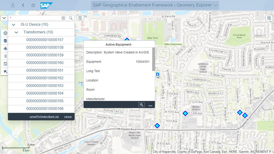 SAP GEF, SAP GEF ESRI, SAP Geographic Enablement Framework, SAP Utilities data in real-time from map, Geo-Enabling SAP Utilities, SAP Utilities workflows on map, Enterprise GIS, Bridge the Gap enterprise and Geospatial data